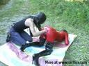 Screenshot for Мужик трахает руков жопастую бабу в красном латексе